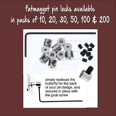 Pin Locks Pin Keepers Pin Savers for Enamel Badges 10pcs to 200 pcs