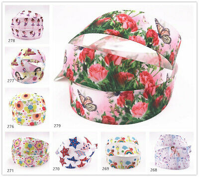 "DIY 1""25mm Printed Christmas Grosgrain Ribbon Hair Bow Sewing Crafts gift wrap"