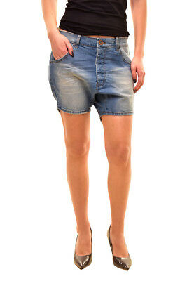 One Teaspoon Women's Relaxed Hustlers Shorts Size 26 Blue Stone RRP $110 BCF81