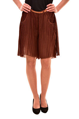 One Teaspoon Women's Authentic  Mini Flare Shorts Size S Brown RRP $90 BCF81