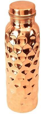 Pure Copper Ayurvedic Water Storage Bottle Good for Stomach/Skin/Liver/Kidney