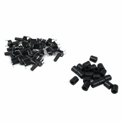 1X(20 Pcs 6x6x12mm 4pin Push Button Micro-Tactile Tact Switch with Cap V5R4)