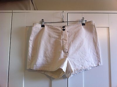 Super Funky 1970s Cream Vintage Retro 'Stubbies' Shorts -As New!Vintage S 16
