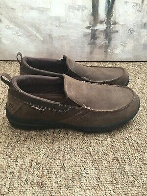 Skechers memory Foam Air Cooled Relaxed Fit Brown Slip On Size:9 Euro:43
