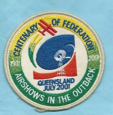(Extremely Rare) 2001 CENTENARY OF FEDERATION AIRSHOWS IN THE OUTBACK QLD. Patch