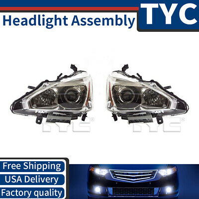 TYC 2X Left + Right Headlight Headlamp Assembly Replacement For 2013-15 Altima