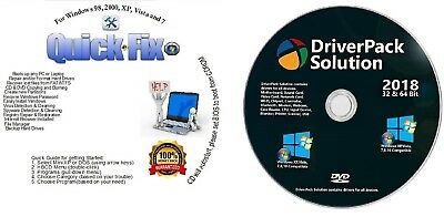 Win XP/Vista/7/8/10 Boot Repair Recovery Restore CD & 2018 AUTOMATIC Drivers!!