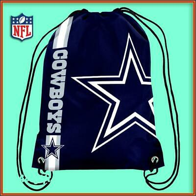Dallas Cowboys Drawstring Crest Gym / Sports / School Bag Official Nfl New