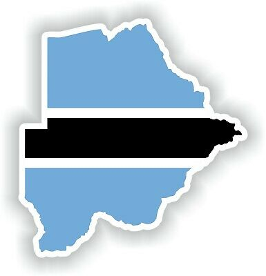 Sticker of Botswana Map Flag for Bumper Travel Laptop Tablet Suitcase Hollidays