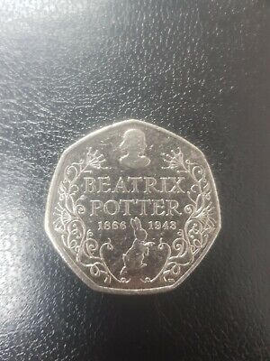 50p Beatrix Potter 150th Anniversary  Fifty Pence  Very Collectable 2016