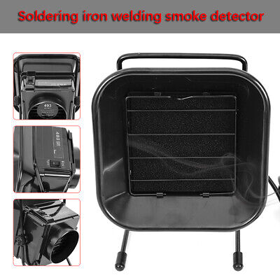 Soldering Solder Smoke Absorber Remover Fume Extractor ESD Air Filter Fan