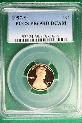 1997-S PCGS PROOF PR 69 RED DEEP CAMEO  Lincoln Memorial Cent!! #B10216