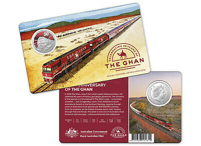 Australia 2019 50c / 50 cent 90th Anniversary of the Ghan Unc. Coloured Coin