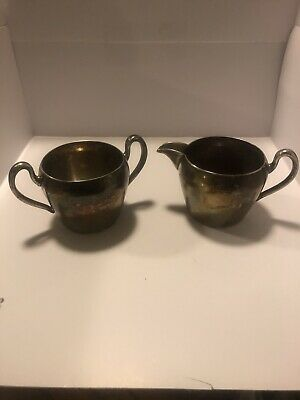VIntage Academy 5160 Silver on Copper Cream Creamer Pitcher Elegant!