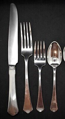 Antique By Wallace Sterling  Flatware  Set For 8 Plain Set Nice Look