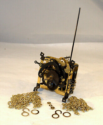 1 Day Rebuilt Regula Cuckoo Clock Movement, 25-V, Tested/Oiled, Plus New Chains