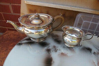 antique art deco Mappin & Webb STERLING SILVER TEAPOT creamer 760grm