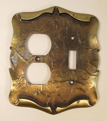 Vintage Amerock Carriage House Antique Brass Combo Switch Plate Outlet Cover 5