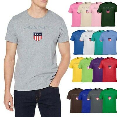 Gant Herren Damen Paar Kurzarm T-Shirt Freizeit Sporthemd Top Shirt Multicolor