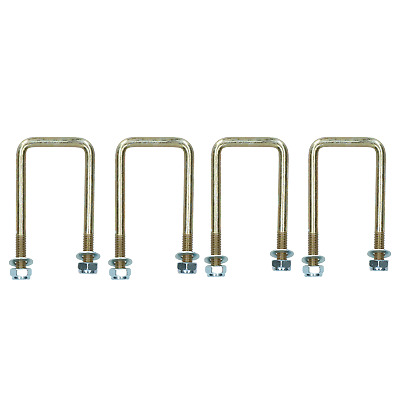 4 Pack M10 50mm x 100mm U-Bolt N-Bolt for Trailers with Nuts HIGH TENSILE