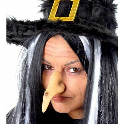 Long Witch Nose & Black Wart Halloween Fake Witches Book Week Fancy Dress