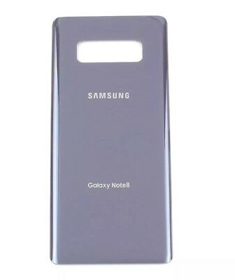 OEM Samsung Galaxy Note 8 Original Replace Battery Door Glass Back Cover - Grey