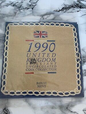 1990 Royal Mint United Kingdom Brilliant Uncirculated Coin Collection Set Sealed