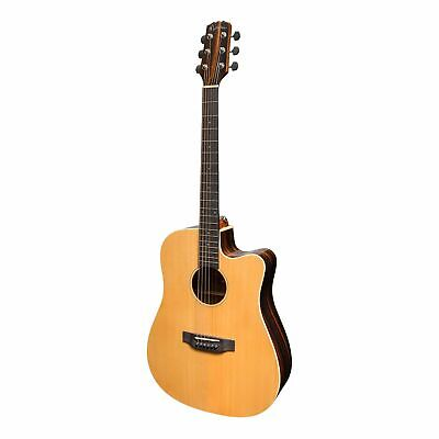 Martinez 'Southern Star' Series Spruce Solid Top Acoustic-Electric Dreadnought C