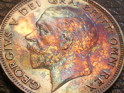 A52..1935.George V Silver Half Crown Stunning Fire Tone My Grade Almost Unc