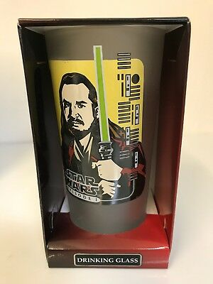 Vintage Star Wars Classic Collector Series Drinking Glass qui gon jinn (new).