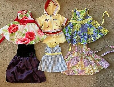 "7-PC 18"" Doll Clothing Dress Outfit Lot Fits American Girl Bitty Baby Twin GUC"