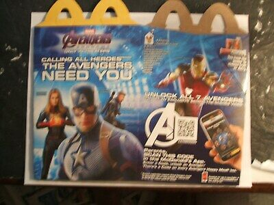McDONALDS HAPPY MEAL, AVENGERS END GAME 2019     ( HAPPY MEAL BOX )