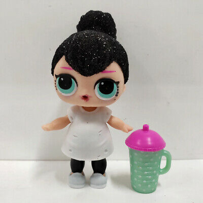 lol surprise doll Big Sister Glitter Black Hair White Dress Kids Birthday Gift