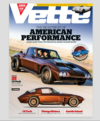 Vette Magazine September 2019 New With Barcode No Address Label