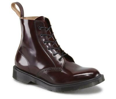 Dr Martens Arthur Made In England Merlot Boanil Brush Leather Boots UK 12