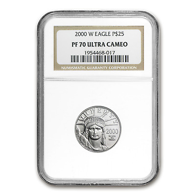 2000-W 1/4 oz Proof Platinum American Eagle PF-70 NGC - SKU #14963