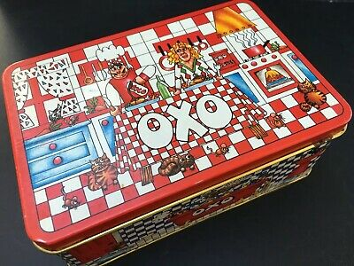 OXO Tin 48 (empty) - 1990 Graphic Design Winner Mark Canon - Retro Kitchen - Red