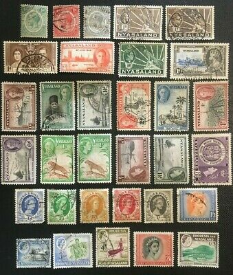 Nyasaland And Rhodesia Collection Of Old Stamps
