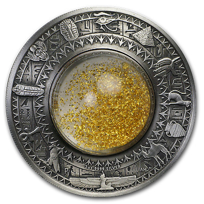 2019 Australia 2 oz Silver Treasures of Ancient Egypt (Antiqued) - SKU#195577