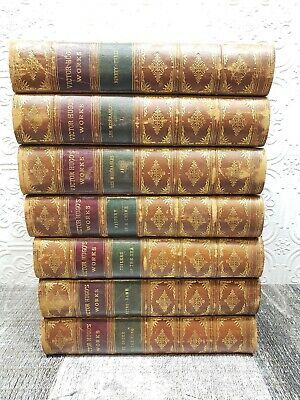 VICTOR HUGO set of 7 books Thomas Y. Crowell & Co.1888 Notre-Dame Les Miserables