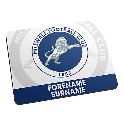 Millwall F.C - Personalised Mouse Mat (BOLD CREST)