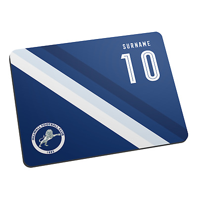 Millwall F.C - Personalised Mouse Mat (STRIPE)