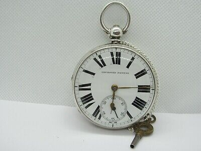 1876 English fusee pocket watch solid silver very good condition and working