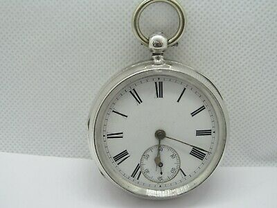 1884 fusee pocket watch solid silver very good condition and working