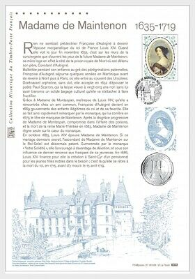 france 2019 Madame de Maintenon 1635 1719 morganatic wife king France 1v DOC FDC