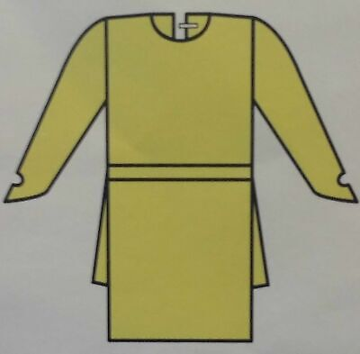 Kimberly-Clark Large Yellow KC200 Isolation Gown Medical Dress Scrubs