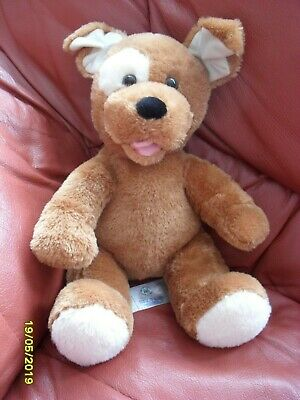 Build A Bear Dog Soft Teddy With Heart Beat  In Used Condition See Pic