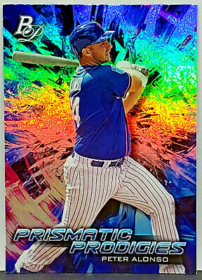 Pete Alonso Rookie Refractor! 2018 Bowman Platinum #Ppp-25 Prismatic Prodigies!