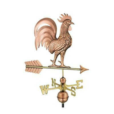 NEW Good Directions Rooster Pure Copper Roof-Mount Weathervane Large w/ Arrow