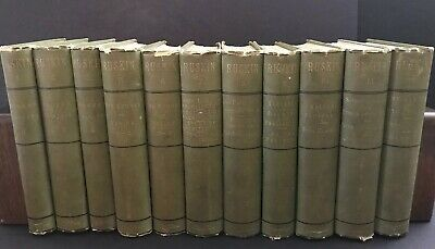 Vintage Works of John Ruskin (Illustrated) Full Set Vol 1-12 Wiley & Sons 1885c